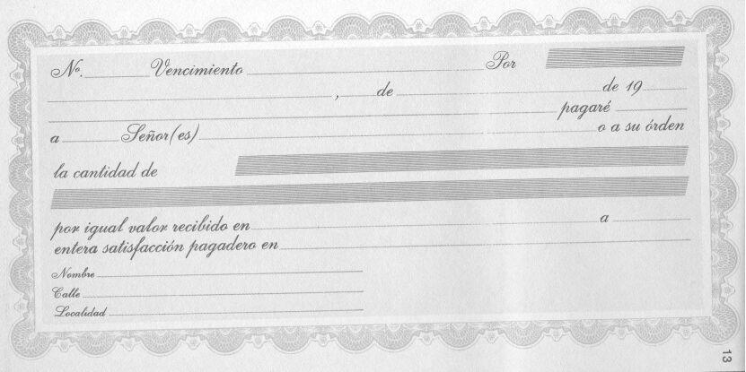 formulario pagare: