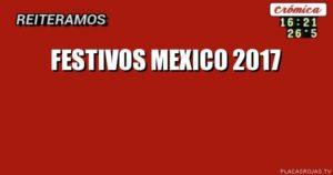 Festivos Mexico 2017