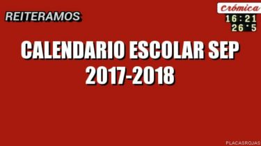 Calendario Escolar SEP 2017-2018 | La Economia de Hoy