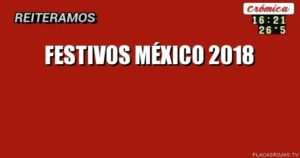 calendario laboral Mexico 2018